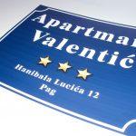 Naljepnica apartmani Valentić